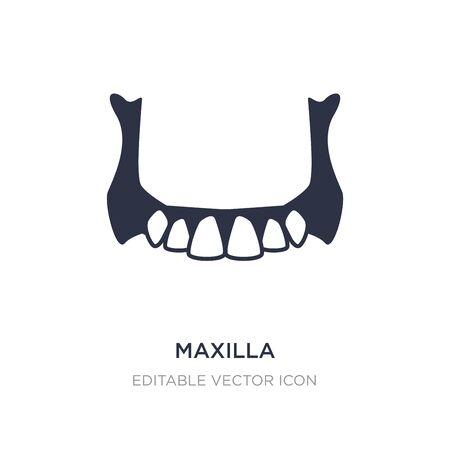 maxilla icon on white background. Simple element illustration from Dentist concept. maxilla icon symbol design. Vektorové ilustrace