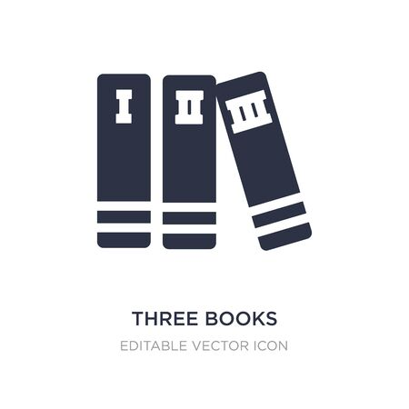 three books icon on white background. Simple element illustration from Education concept. three books icon symbol design.