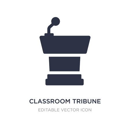 classroom tribune icon on white background. Simple element illustration from Education concept. classroom tribune icon symbol design. Illusztráció