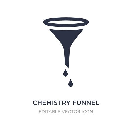 chemistry funnel icon on white background. Simple element illustration from Education concept. chemistry funnel icon symbol design.