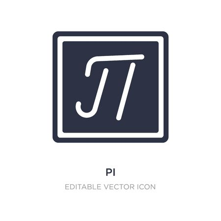 pi icon on white background. Simple element illustration from Education concept. pi icon symbol design.