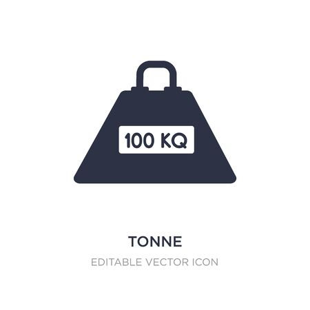 tonne icon on white background. Simple element illustration from Education concept. tonne icon symbol design.