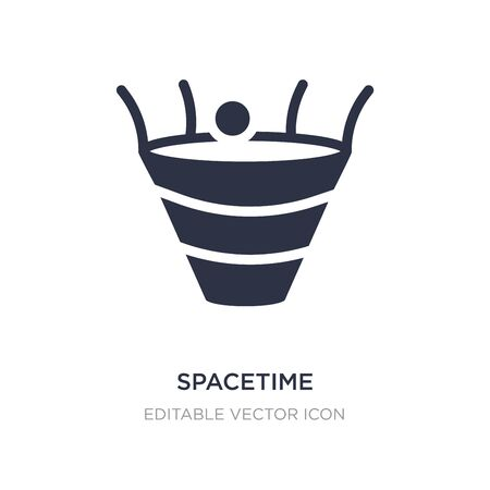 spacetime curvature icon on white background. Simple element illustration from Education concept. spacetime curvature icon symbol design.