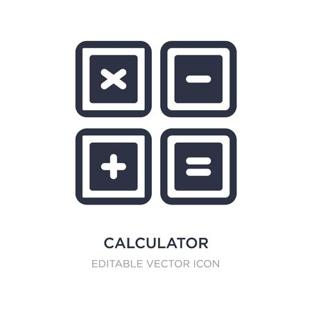 calculator buttons interface icon on white background. Simple element illustration from Education concept. calculator buttons interface icon symbol design.