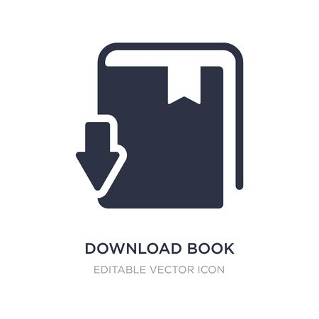 download book icon on white background. Simple element illustration from Education concept. download book icon symbol design.