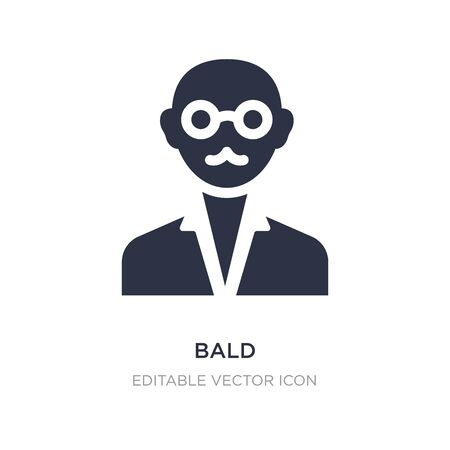 bald icon on white background. Simple element illustration from Education concept. bald icon symbol design.