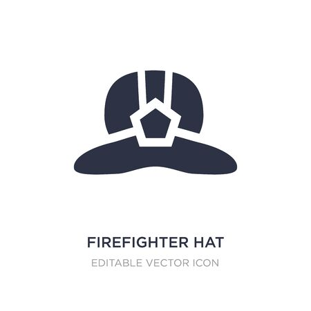 firefighter hat icon on white background. Simple element illustration from Fashion concept. firefighter hat icon symbol design.