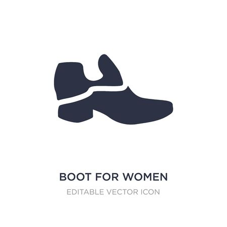boot for women icon on white background. Simple element illustration from Fashion concept. boot for women icon symbol design.