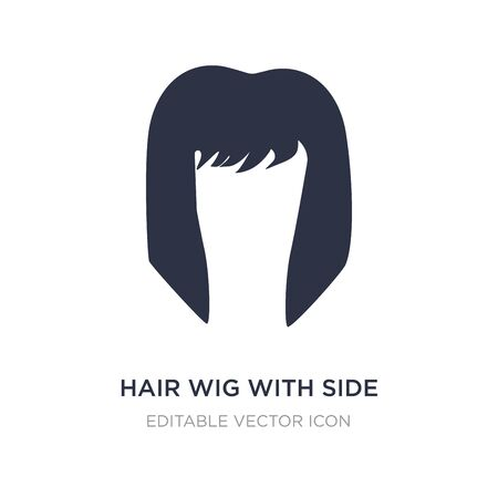 hair wig with side icon on white background. Simple element illustration from Fashion concept. hair wig with side icon symbol design. 일러스트