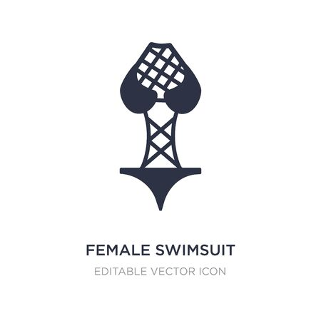 female swimsuit icon on white background. Simple element illustration from Fashion concept. female swimsuit icon symbol design. Vettoriali