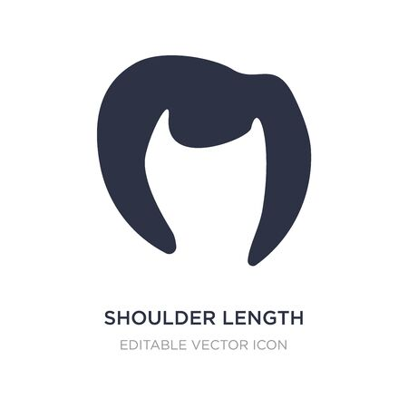 shoulder length icon on white background. Simple element illustration from Fashion concept. shoulder length icon symbol design. 일러스트