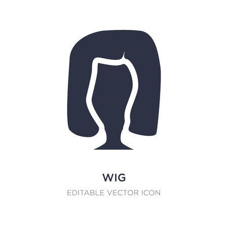 wig icon on white background. Simple element illustration from Fashion concept. wig icon symbol design.
