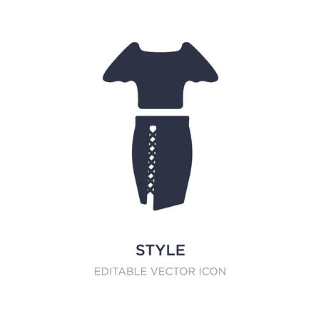 style icon on white background. Simple element illustration from Fashion concept. style icon symbol design. Stock Illustratie