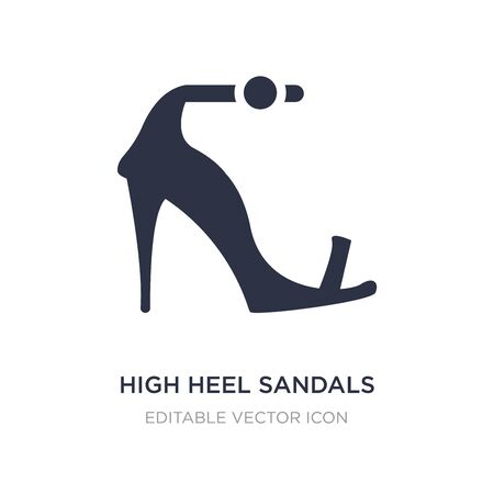 high heel sandals icon on white background. Simple element illustration from Fashion concept. high heel sandals icon symbol design.