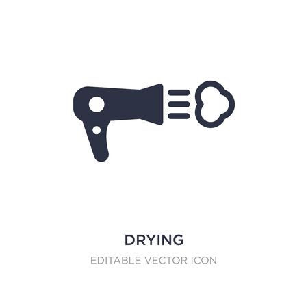 drying icon on white background. Simple element illustration from Fashion concept. drying icon symbol design.