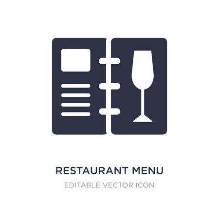 restaurant menu icon on white background. Simple element illustration from Food concept. restaurant menu icon symbol design.