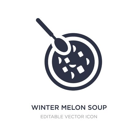 winter melon soup icon on white background. Simple element illustration from Food concept. winter melon soup icon symbol design.