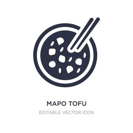 mapo tofu icon on white background. Simple element illustration from Food concept. mapo tofu icon symbol design. Illusztráció