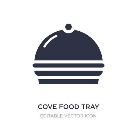 cove food tray icon on white background. Simple element illustration from Food concept. cove food tray icon symbol design. Ilustração