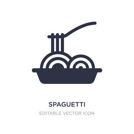 icône de spaguetti sur fond blanc. Illustration d'élément simple du concept de nourriture. conception de symbole d'icône de spaguetti.