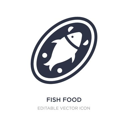 fish food icon on white background. Simple element illustration from Food concept. fish food icon symbol design.