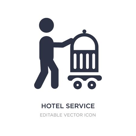 hotel service icon on white background. Simple element illustration from Food concept. hotel service icon symbol design. Illustration
