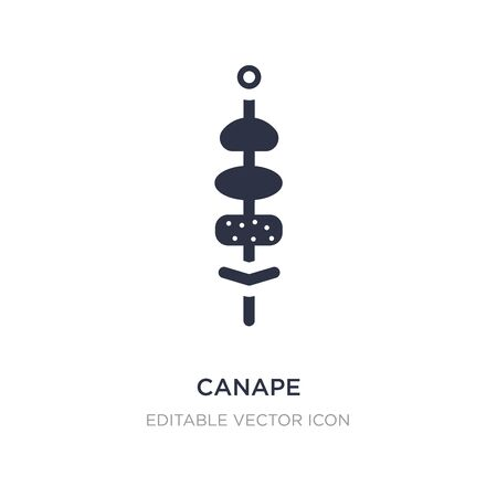 canape icon on white background. Simple element illustration from Food concept. canape icon symbol design.
