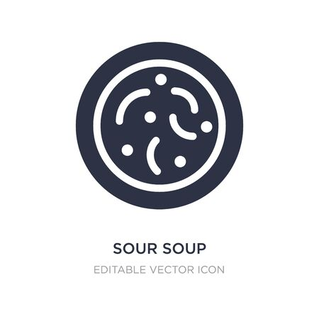 sour soup icon on white background. Simple element illustration from Food and restaurant concept. sour soup icon symbol design. Stock Illustratie