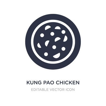 kung pao chicken icon on white background. Simple element illustration from Food and restaurant concept. kung pao chicken icon symbol design.