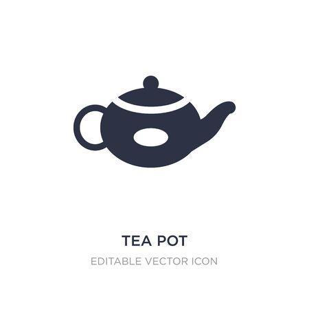 tea pot icon on white background. Simple element illustration from Food and restaurant concept. tea pot icon symbol design. Иллюстрация