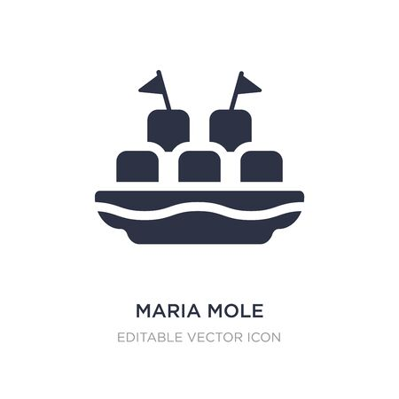 maria mole icon on white background. Simple element illustration from Food and restaurant concept. maria mole icon symbol design.