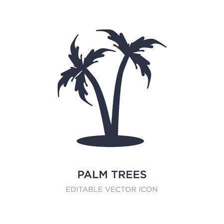palm trees icon on white background. Simple element illustration from Holidays concept. palm trees icon symbol design. Ilustração