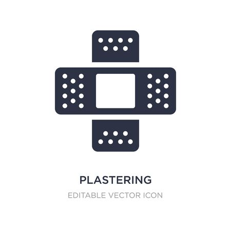 plastering icon on white background. Simple element illustration from Medical concept. plastering icon symbol design.