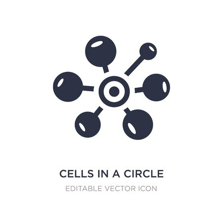 cells in a circle icon on white background. Simple element illustration from Medical concept. cells in a circle icon symbol design.