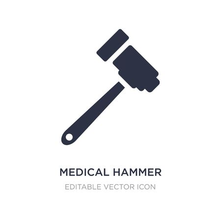 medical hammer tool icon on white background. Simple element illustration from Medical concept. medical hammer tool icon symbol design.