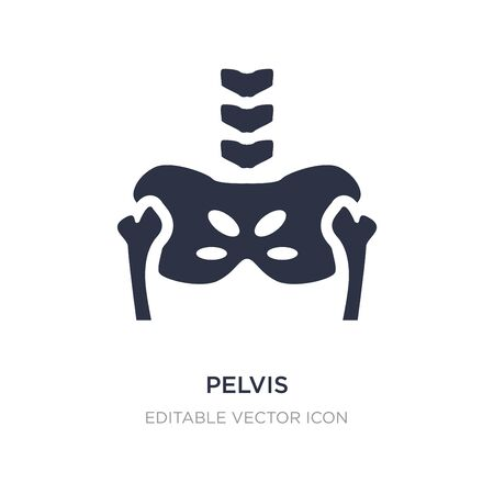 pelvis icon on white background. Simple element illustration from Medical concept. pelvis icon symbol design.