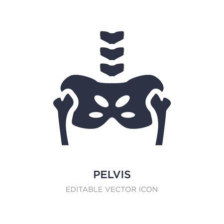 pelvis icon on white background. Simple element illustration from Medical concept. pelvis icon symbol design.