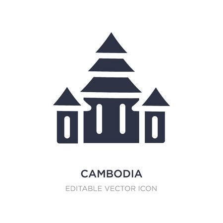 cambodia icon on white background. Simple element illustration from Monuments concept. cambodia icon symbol design. 向量圖像