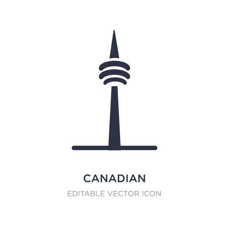 canadian national tower icon on white background. Simple element illustration from Monuments concept. canadian national tower icon symbol design. 일러스트