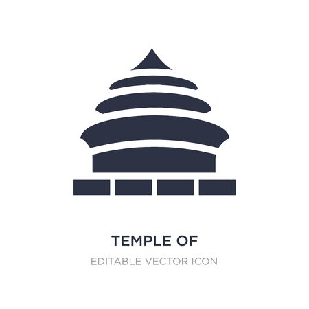temple of heaven in beijing icon on white background. Simple element illustration from Monuments concept. temple of heaven in beijing icon symbol design. 向量圖像