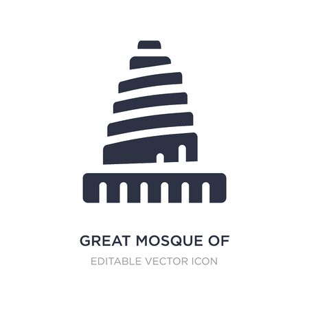 great mosque of samarra icon on white background. Simple element illustration from Monuments concept. great mosque of samarra icon symbol design.