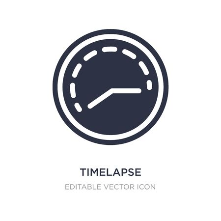 timelapse icon on white background. Simple element illustration from Art concept. timelapse icon symbol design.  イラスト・ベクター素材