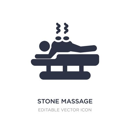 stone massage icon on white background. Simple element illustration from Beauty concept. stone massage icon symbol design. Illustration