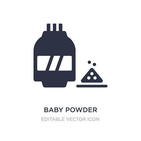 baby powder icon on white background. Simple element illustration from Beauty concept. baby powder icon symbol design.