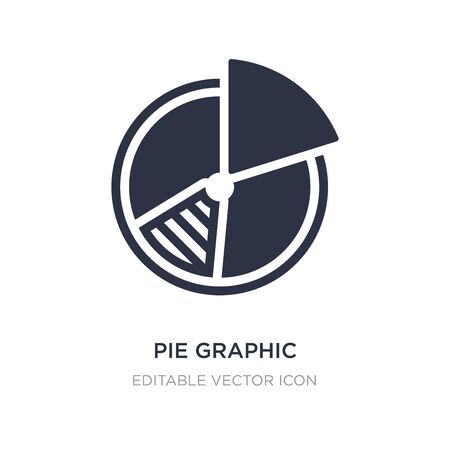 pie graphic icon on white background. Simple element illustration from Business concept. pie graphic icon symbol design. 일러스트