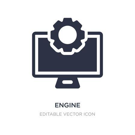 engine icon on white background. Simple element illustration from Web concept. engine icon symbol design. Ilustracja