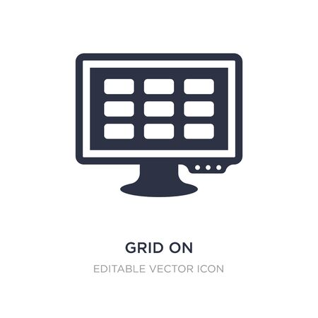 grid on icon on white background. Simple element illustration from Web concept. grid on icon symbol design.