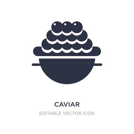caviar icon on white background. Simple element illustration from Animals concept. caviar icon symbol design. 向量圖像