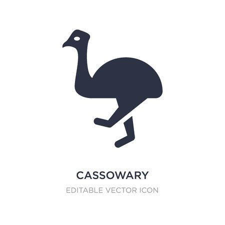 cassowary icon on white background. Simple element illustration from Animals concept. cassowary icon symbol design.