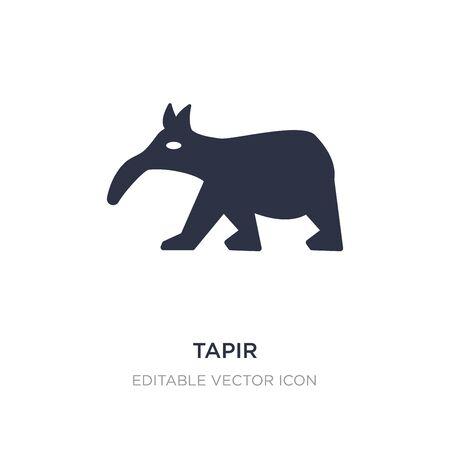 tapir icon on white background. Simple element illustration from Animals concept. tapir icon symbol design.
